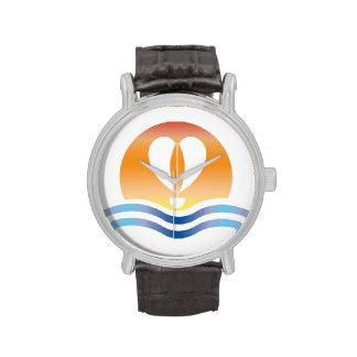 Luffers Sunset__heart-shaped sail Wrist Watch