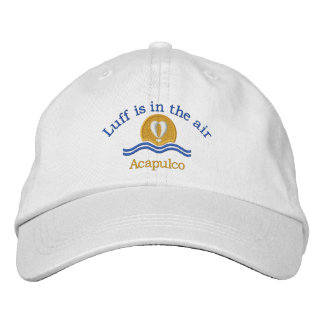 Luffers Sunset_Luff is in the air Acapulco Embroidered Baseball Cap