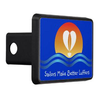 Luffers Sunset_Sailors Make Better Luffers_on blue Hitch Cover
