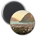 Lugano, general view, Tessin, Switzerland vintage