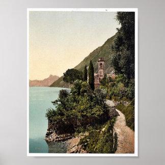 Lugano, Oria, Tessin, Switzerland vintage Photochr Posters