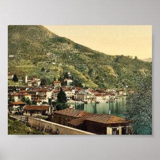 Lugano, Ponte Tresa, Tessin, Switzerland vintage P Poster