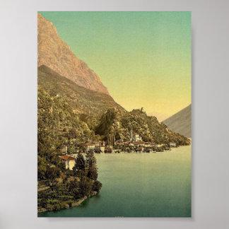 Lugano, San Mammete, Tessin, Switzerland vintage P Posters
