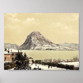 Lugano, San Salvatore, Tessin, Switzerland vintage Posters