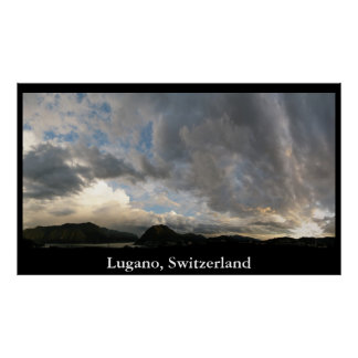 Lugano Skyline Poster
