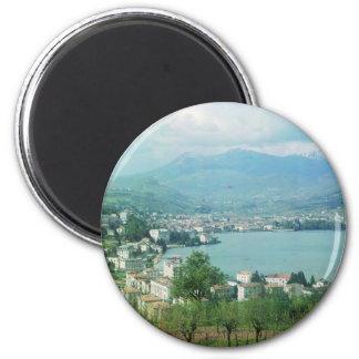 Lugano Switzerland 6 Cm Round Magnet
