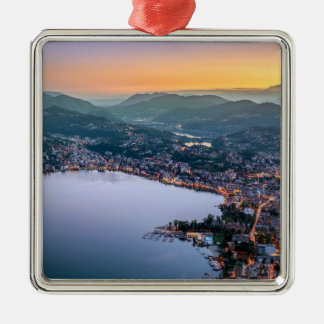 Lugano Switzerland Christmas Ornament