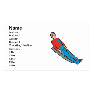 Luge 2 pack of standard business cards