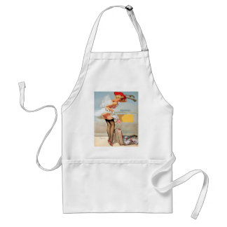 Luggage accident pinup girl aprons