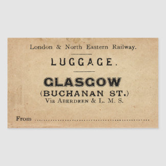 Luggage Glasgow Rectangular Sticker