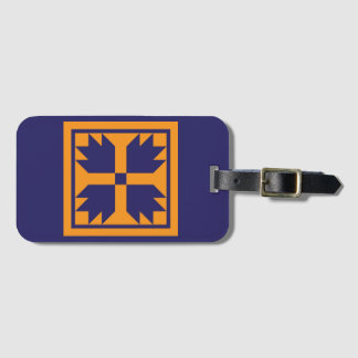 Luggage Tag - Bear Paw Quilt Block