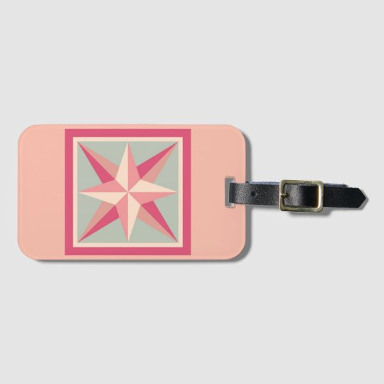 Luggage Tag - Beveled Star (pink)