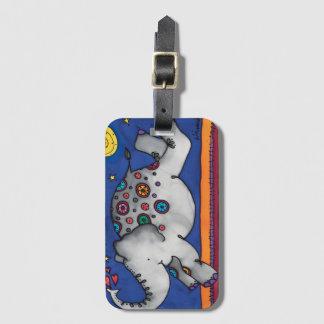 Luggage Tag / Business Card Slot: Elephant Series