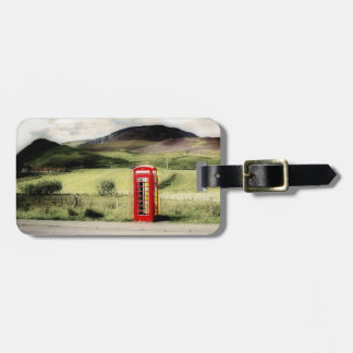 Luggage Tag Customisable Red British Phone Booth