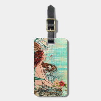 Luggage Tag CUSTOMIZE Mermaid by the SeaShore Tag