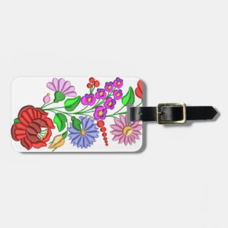 luggage tag, flower, colour, kalocsa luggage tag