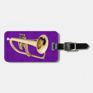 Luggage Tag - Flugelhorn - Choose color