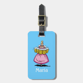 Luggage Tag Oktoberfest Beer Waitress