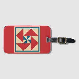 Luggage Tag - Patriotic Spin Quilt Block