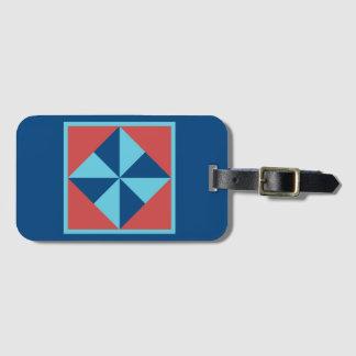 Luggage Tag - Pinwheel (dark blue)
