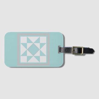 Luggage Tag - Sawtooth Star (blue/grey))