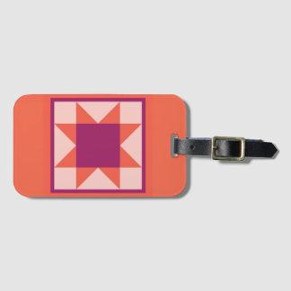 Luggage Tag - Sawtooth Star (orange)