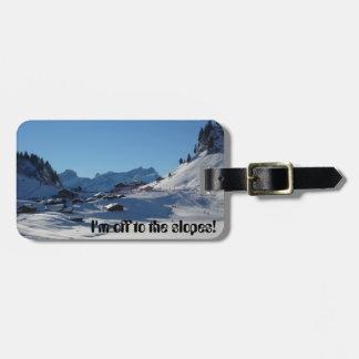 Luggage Tag - Skiing Trip