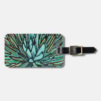 Luggage Tag - Spiky Green Agave