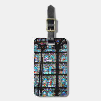 Luggage Tag--Stained Glass at Notre Dame Luggage Tag