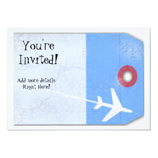 Luggage Tag Style 5x7 Paper Invitation Card
