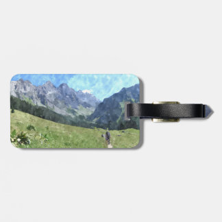 Luggage Tag - Swiss mountains & meadows