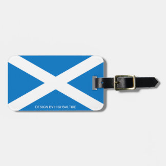 Luggage Tag w/ leather saltire by highsaltire