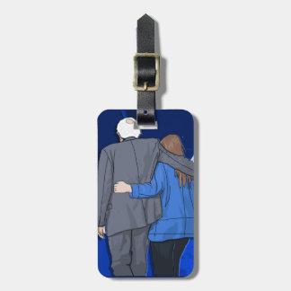 Luggage Tag w/ leather strap BERNIE N JANE LOVE