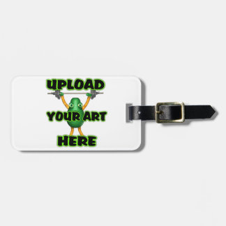 Luggage Tag w/ leather strap by valxart