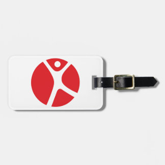 Luggage Tag w/ leather strap for Solo Travel