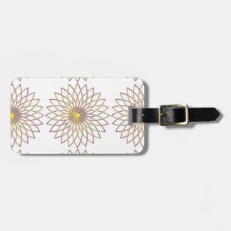 Luggage Tag w/ leather strap GEOMETRIC CIRCLE FLOW