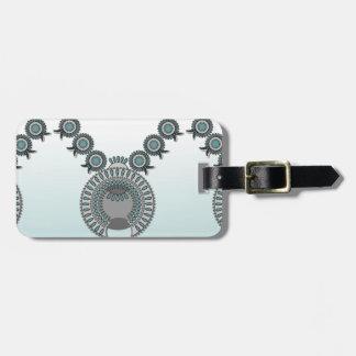 Luggage Tag w/ leather strap SQUASH BLOSSOM