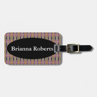 Luggage Tag w/ leather strap - Victorian Look