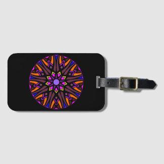 Luggage Tag with colorful mandala