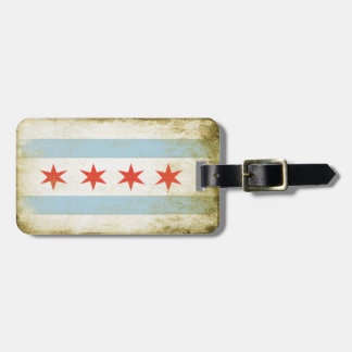 Luggage Tag with Cool Chicago Flag