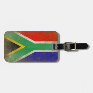Luggage Tag with Cool South Africa Flag