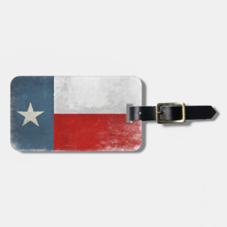 Luggage Tag with Cool Texas Flag