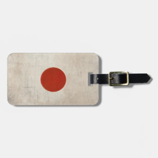 Luggage Tag with Dirty Vintage Flag from Japan