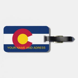 Luggage Tag with Flag of Colorado, USA