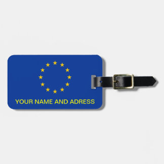 Luggage Tag with Flag of European Union