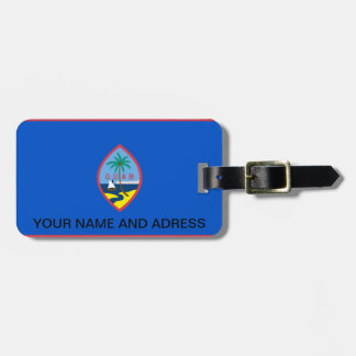 Luggage Tag with Flag of Guam, USA