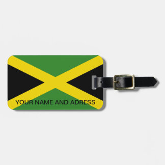 Luggage Tag with Flag of Jamaica