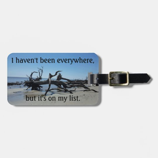 Luggage tag with quote