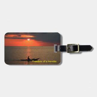 Luggage Tag with Sunset Picture