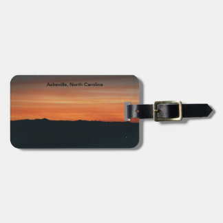 Luggage Tag with Sunset Scene